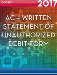 Written Statement of Unauthorized Debit Form-