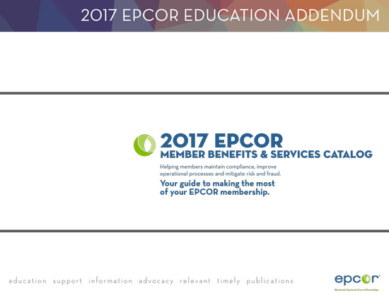2017 EPCOR Member Services Catalog - Education Addendum
