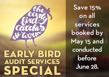 Early Bird Savings save up to 15%