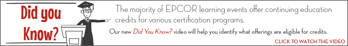EPCOR Did You Know video series, Earning Continuing Education Credits