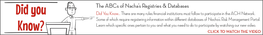 EPCOR Did You Know video series, The ABCs of Nacha's Registries & Databases