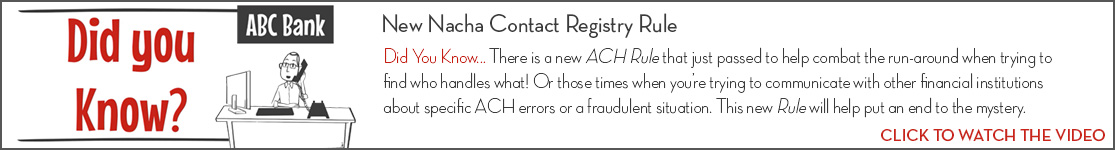 EPCOR Did You Know video series, Nacha Contact Registry
