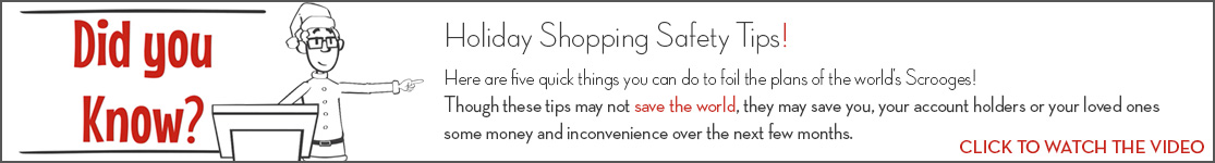 EPCOR Did You Know video series, Holiday Shopping Safety Tips